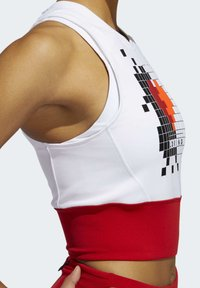 adidas Performance - OWN THE RUN VALENTINE CROP TOP - Topper - white - 5