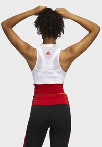 adidas Performance - OWN THE RUN VALENTINE CROP TOP - Topper - white - 1