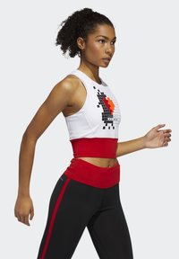 adidas Performance - OWN THE RUN VALENTINE CROP TOP - Topper - white - 3