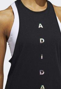 adidas Performance - TANK TOP - Toppi - black - 4