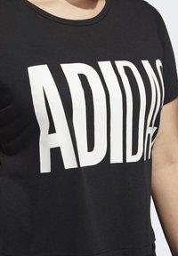 adidas Performance - UNIVERSE T-SHIRT - T-shirts print - black - 6