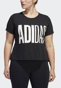 adidas Performance - UNIVERSE T-SHIRT - T-shirts print - black - 4