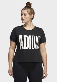 adidas Performance - UNIVERSE T-SHIRT - T-shirts print - black - 0