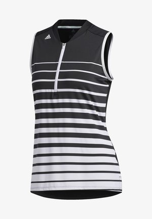 ENGINEERED STRIPE SLEEVELESS POLO SHIRT - T-shirt sportiva - black