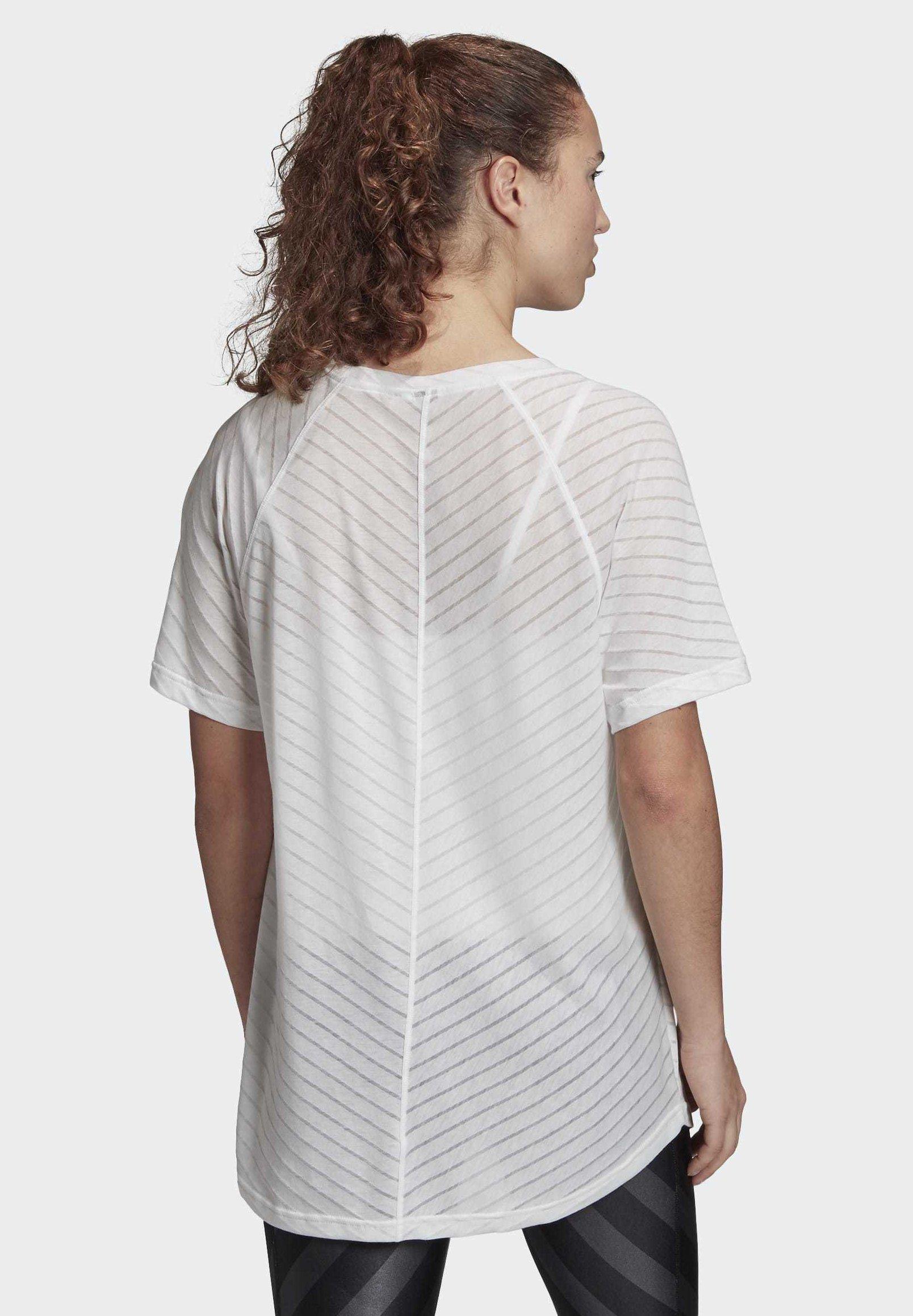 Adidas Performance Burnout Graphic T-shirt - Med Print White