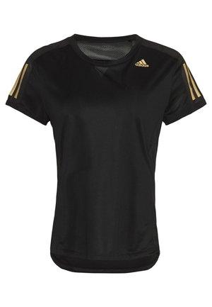 OWN THE RUN TEE - T-shirt z nadrukiem - black