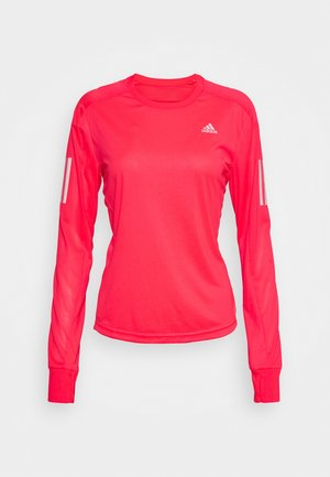 SPORTS RUNNING LONG SLEEVE - Long sleeved top - signal pink