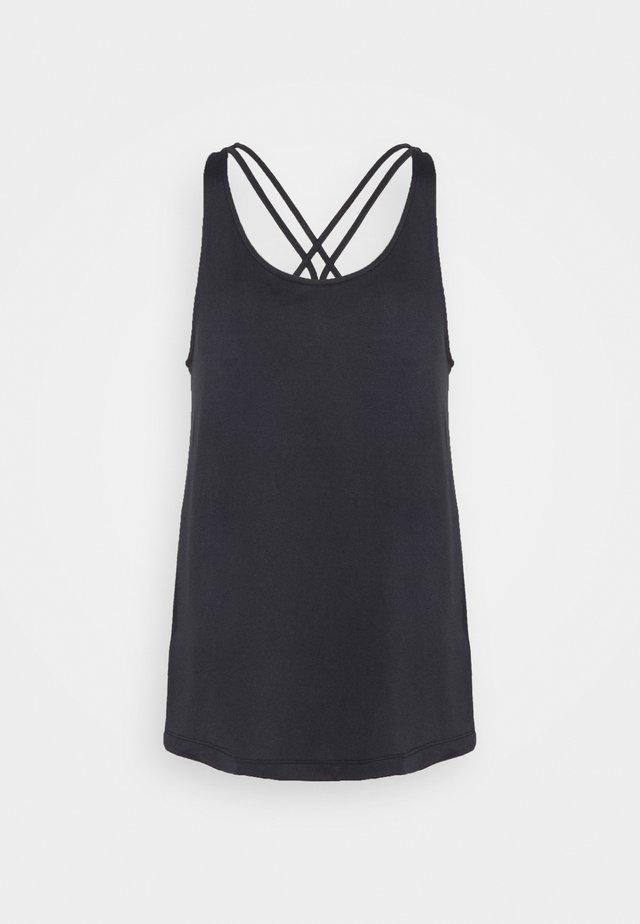 TUNIC TANK - Sports shirt - black/white