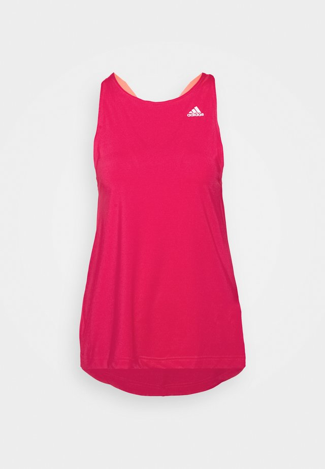 AEROREADY PRIMEGREEN TRAINING SPORTS TANK - Sports shirt - power pink/signal pink