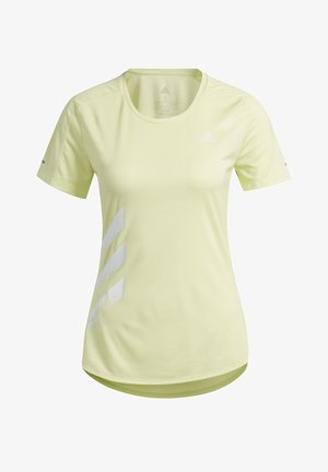 RUN IT 3-STRIPES FAST T-SHIRT - T-shirts med print - yellow