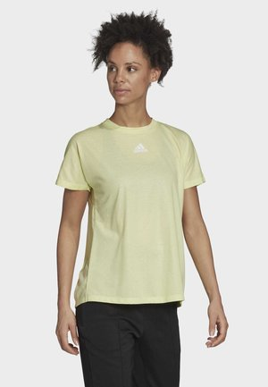 PLEATED T-SHIRT - T-shirt con stampa - yellow