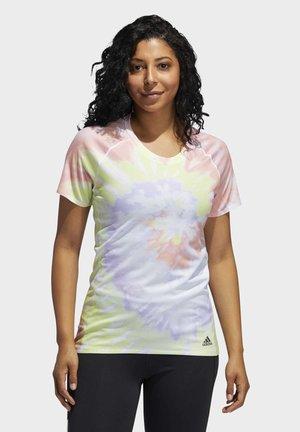 RISE UP 'N RUN SANTA MONICA T-SHIRT - Print T-shirt - red