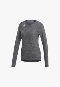 adidas Performance - HI LO JERSEY - Long sleeved top - black - 9