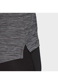 adidas Performance - HI LO JERSEY - Long sleeved top - black - 7