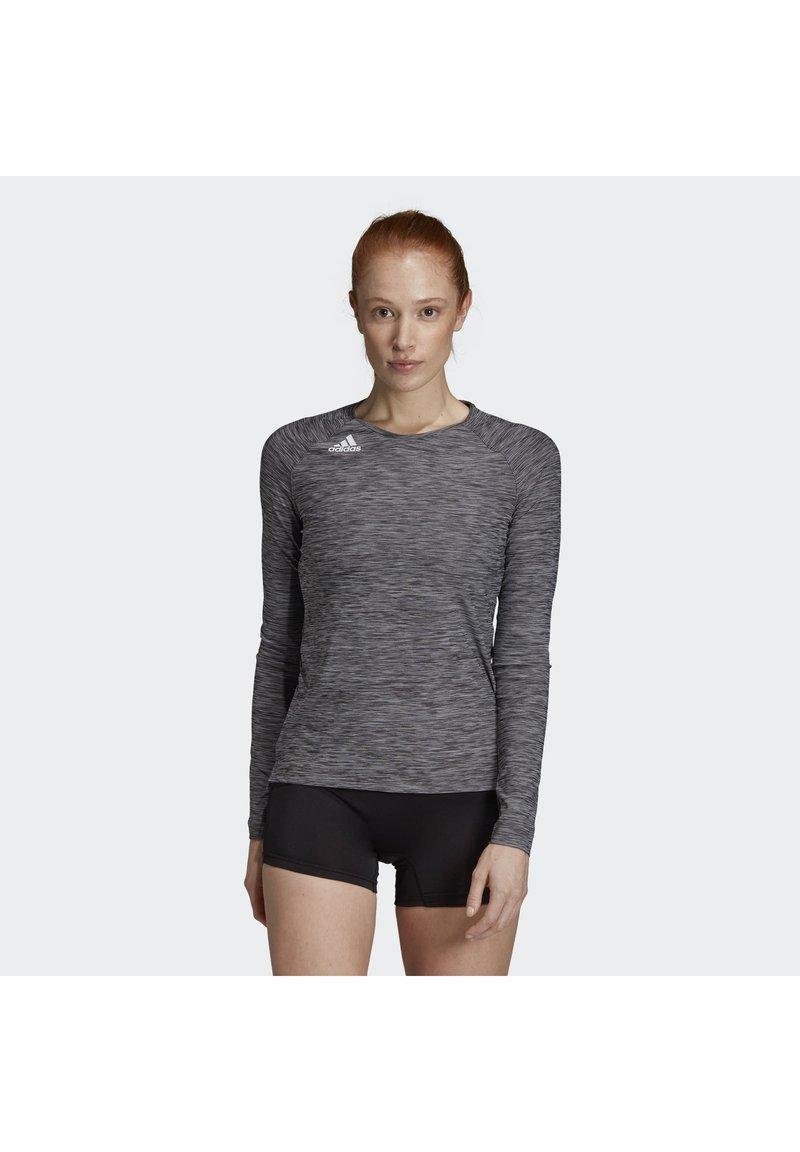 adidas Performance - HI LO JERSEY - Long sleeved top - black