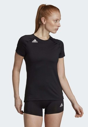 HI LO JERSEY - T-shirt z nadrukiem - black