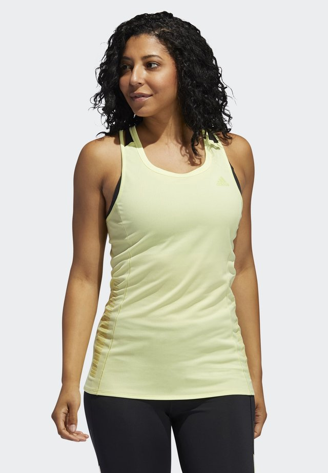 RISE UP N RUN TANK TOP - T-shirt sportiva - yellow