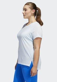 adidas Performance - GO TO T-SHIRT (PLUS SIZE) - T-shirt print - blue - 3