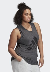 adidas Performance - WINNERS TANK TOP (PLUS SIZE) - Top - black - 2