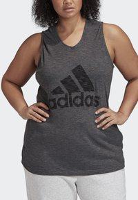 adidas Performance - WINNERS TANK TOP (PLUS SIZE) - Top - black - 4