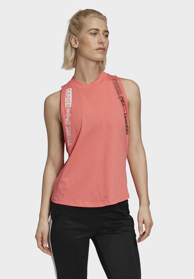 ADIDAS GRAPHIC TANK TOP - Top - red