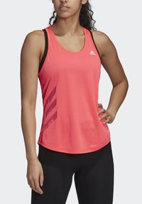 adidas Performance - OWN THE RUN 3-STRIPES PB TANK TOP - Topper - pink - 4