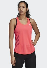 adidas Performance - OWN THE RUN 3-STRIPES PB TANK TOP - Topper - pink - 0