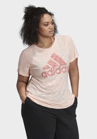 adidas Performance - WINNERS SHORT SLEEVE CREW T-SHIRT (PLUS SIZE) - T-shirt print - pink - 3