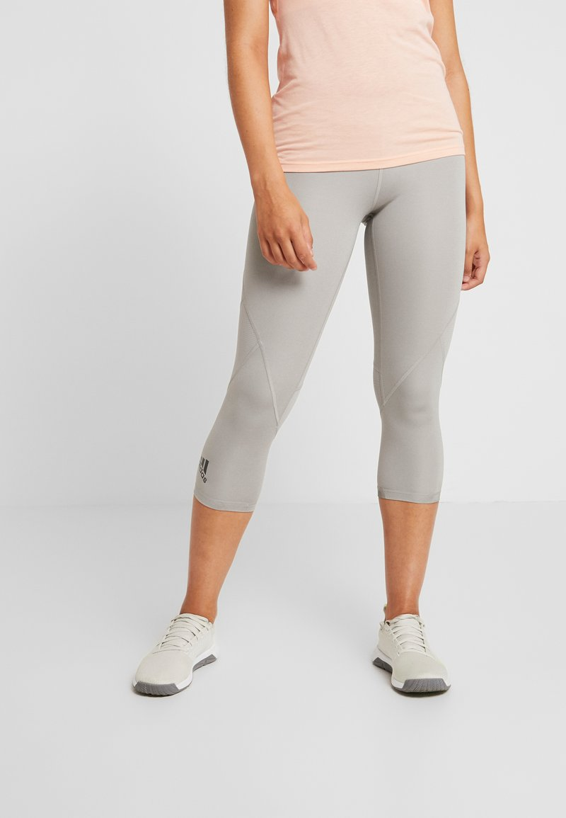 adidas Performance - 3/4 sports trousers - solid grey