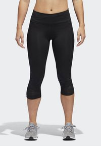 adidas Performance - HOW WE DO 3/4-TIGHTS - 3/4 sports trousers - black - 1