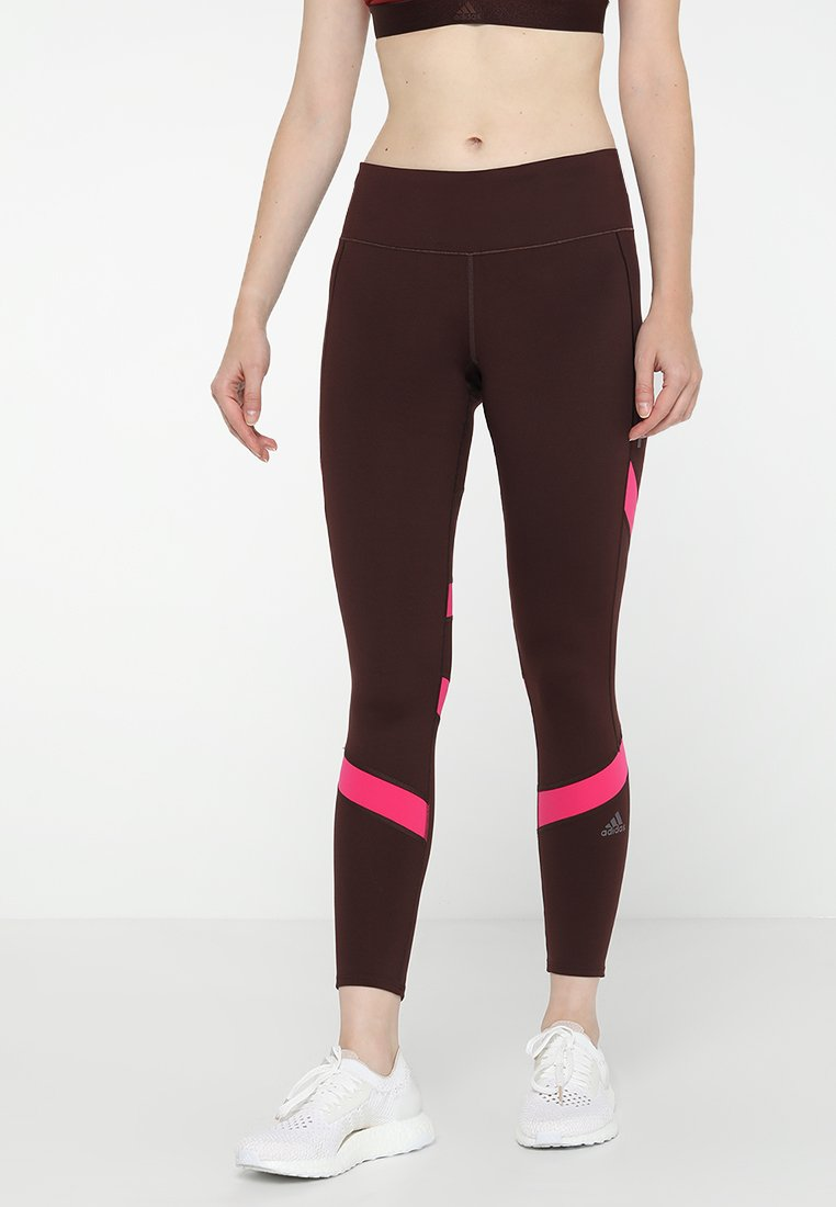 adidas Performance - HOW WE DO  - Tights - night red/real magenta
