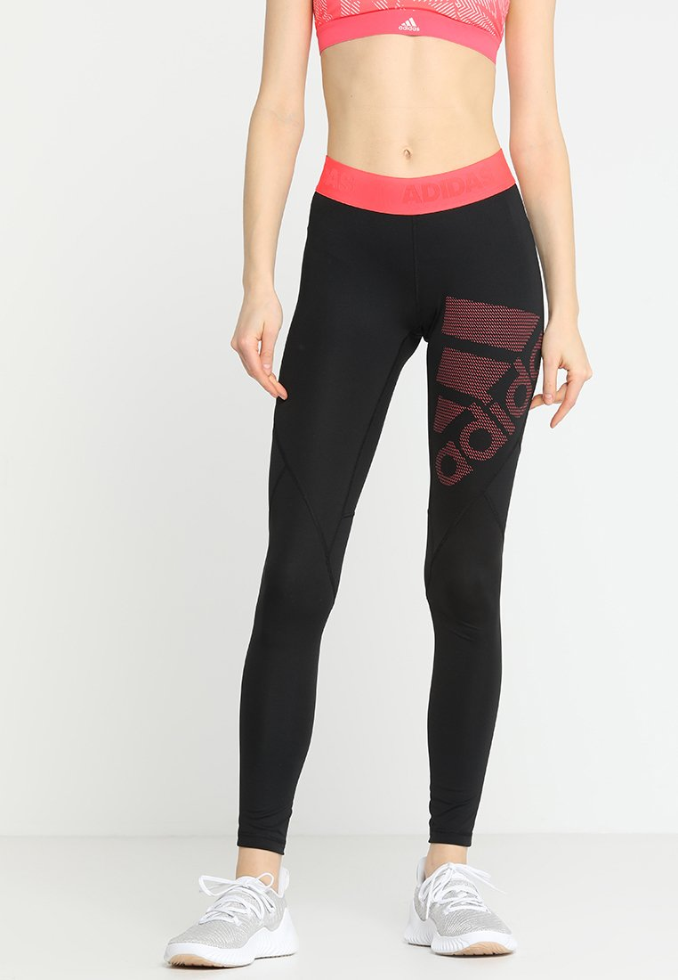 adidas Performance - Tights - black/shock red