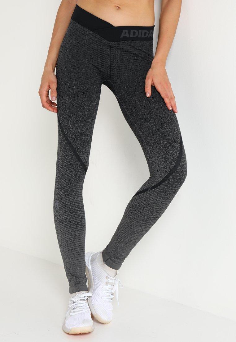 adidas Performance - Tights - grey four/black