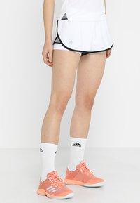 adidas Performance - CLUB SHORT - Träningsshorts - white/black - 0