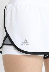 adidas Performance - CLUB SHORT - Träningsshorts - white/black - 5