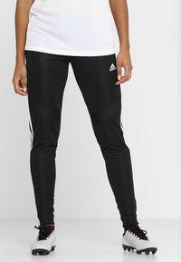 adidas Performance - TIRO AEROREADY CLIMACOOL FOOTBALL PANTS - Spodnie treningowe - black/white - 0