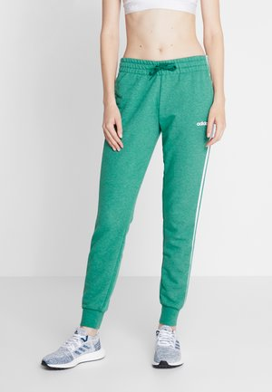 PANT - Tracksuit bottoms - green/white
