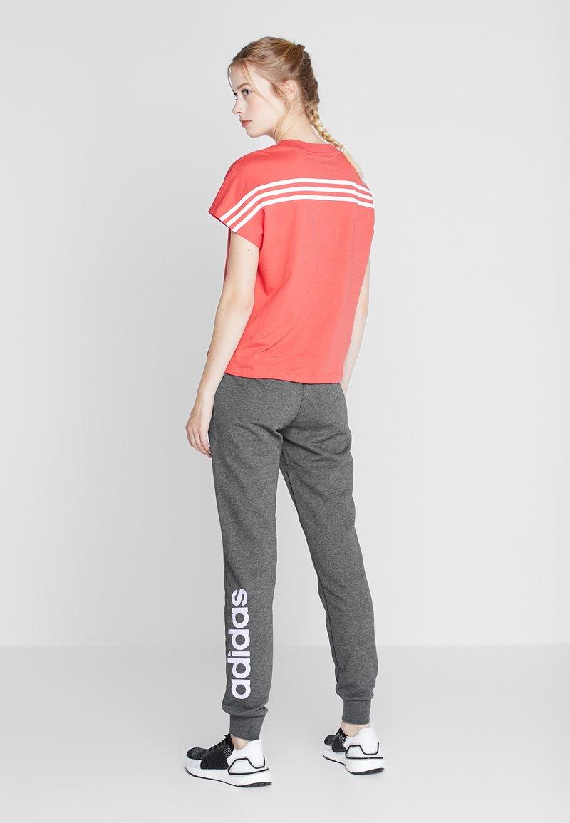 adidas Performance - LIN PANT - Pantaloni sportivi - dark grey/purple