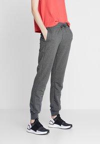 adidas Performance - LIN PANT - Pantaloni sportivi - dark grey/purple - 2
