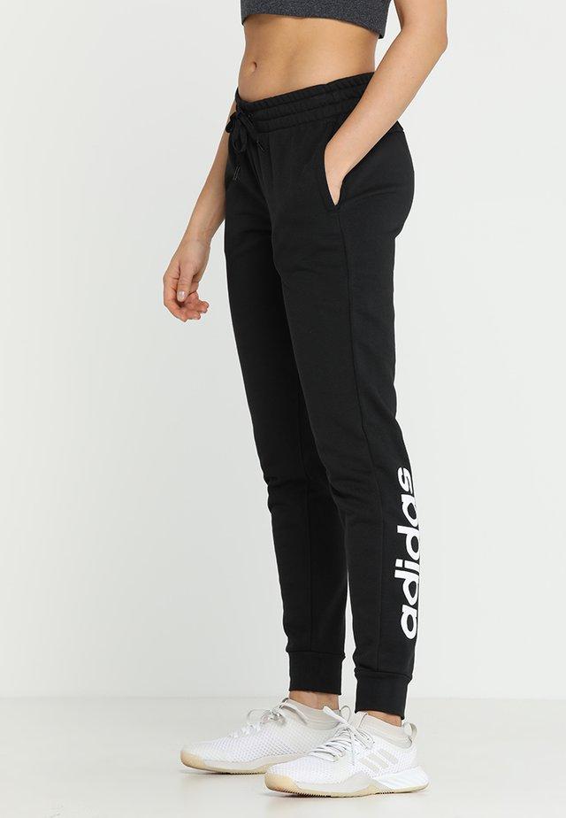 ESSENTIALS LINEAR SPORT PANTS - Jogginghose - black/white