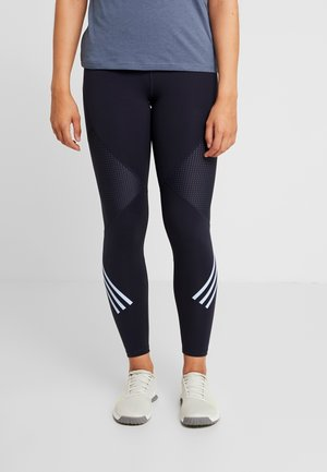 SPORT HIGH WAIST LEGGINGS - Collants - legend ink/glow blue