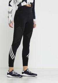 adidas Performance - SPORT HIGH WAIST LEGGINGS - Tights - black/white - 0
