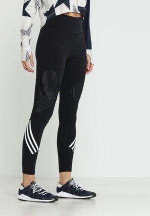 SPORT HIGH WAIST LEGGINGS - Legginsy - black/white