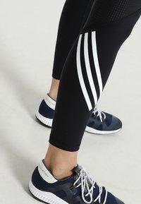 adidas Performance - SPORT HIGH WAIST LEGGINGS - Tights - black/white - 3