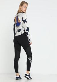 adidas Performance - SPORT HIGH WAIST LEGGINGS - Tights - black/white - 2