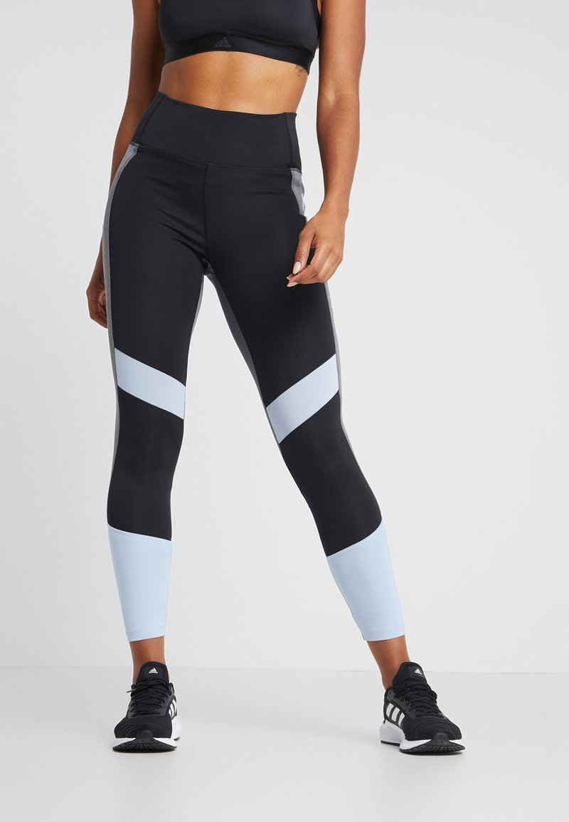 adidas Performance - Legging - black/glow blue