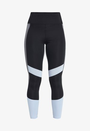 Leggings - black/glow blue