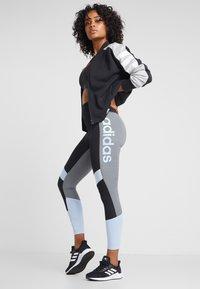 adidas Performance - Leggings - black/glow blue - 1