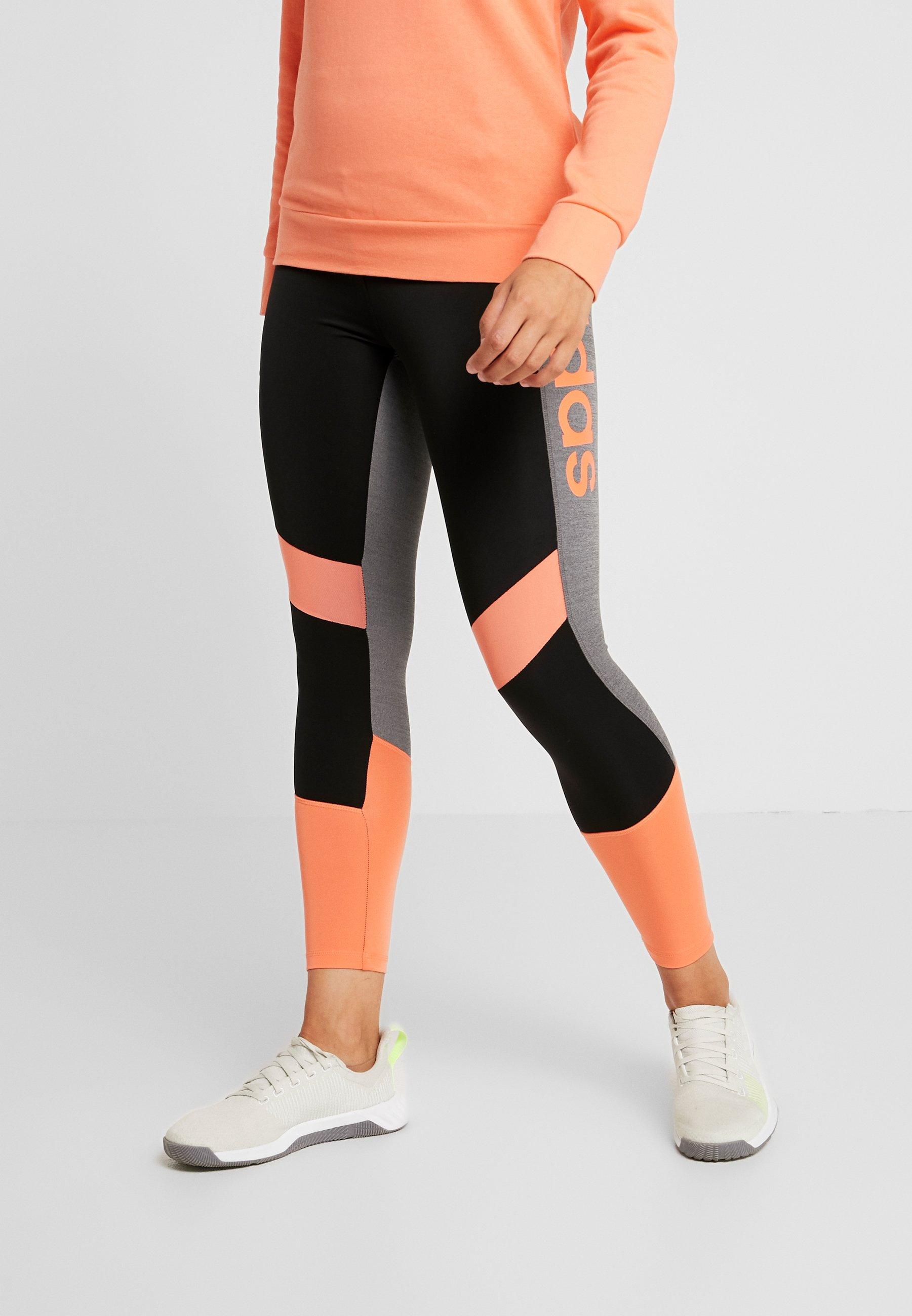 adidas Performance Collants black/semi coral