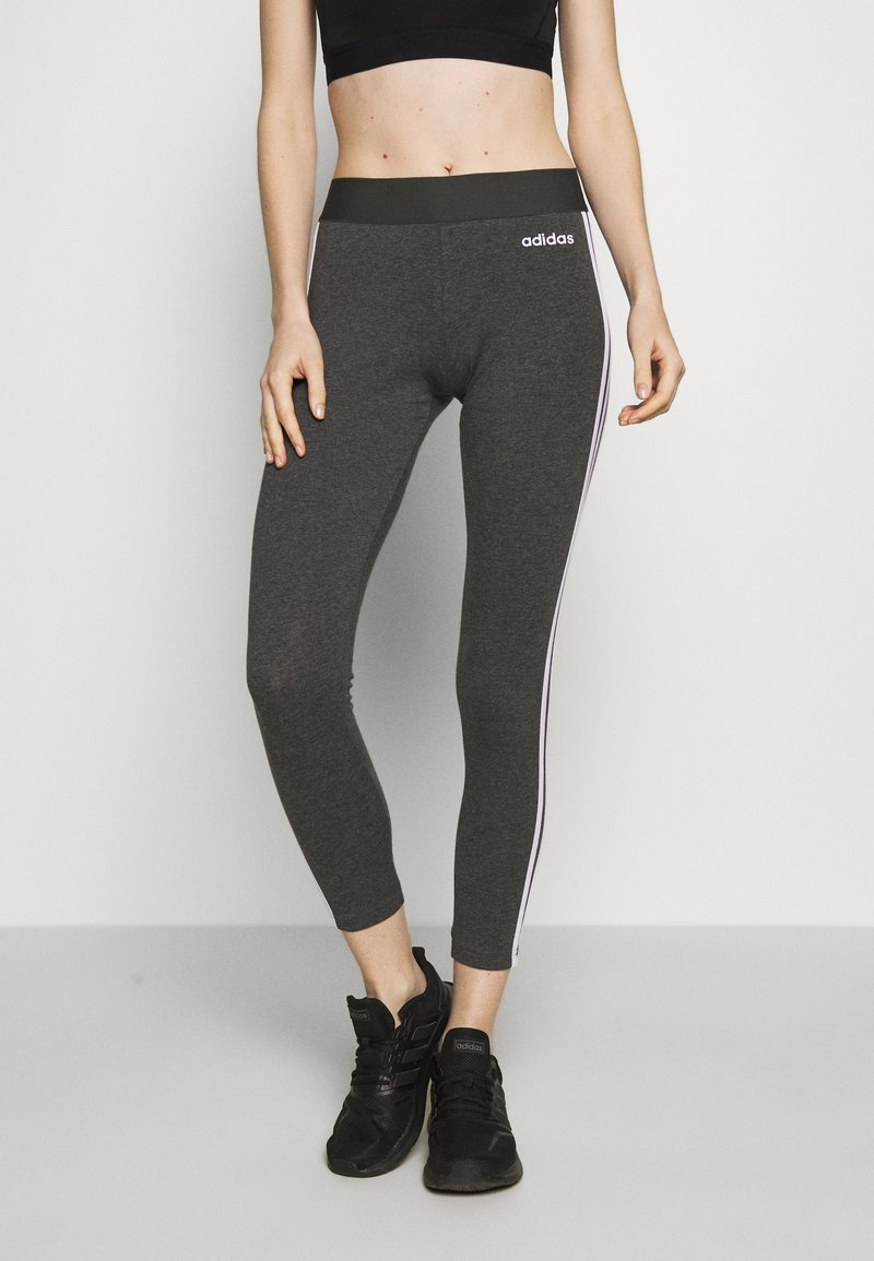 adidas Performance - Leggings - dark grey heather